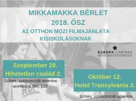 Mikkamakka bérlet 2018 ősz