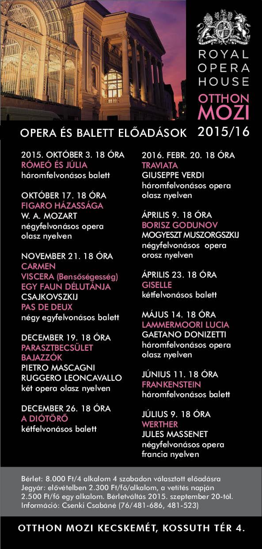 Royal Opera House Cinema 2015/16
